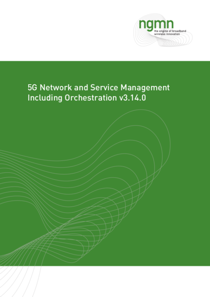5G Network and Service Management Including Orchestration V3.14.0