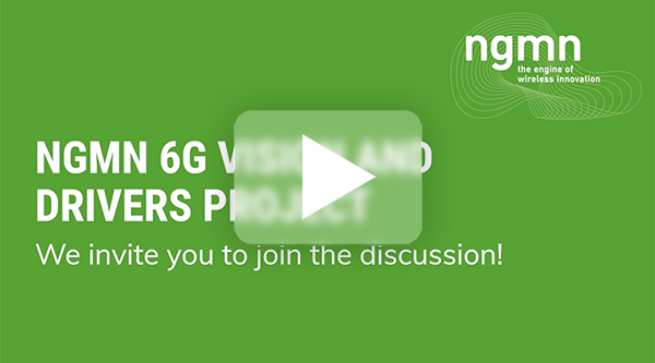 NGMN 6G Vision and Drivers Project